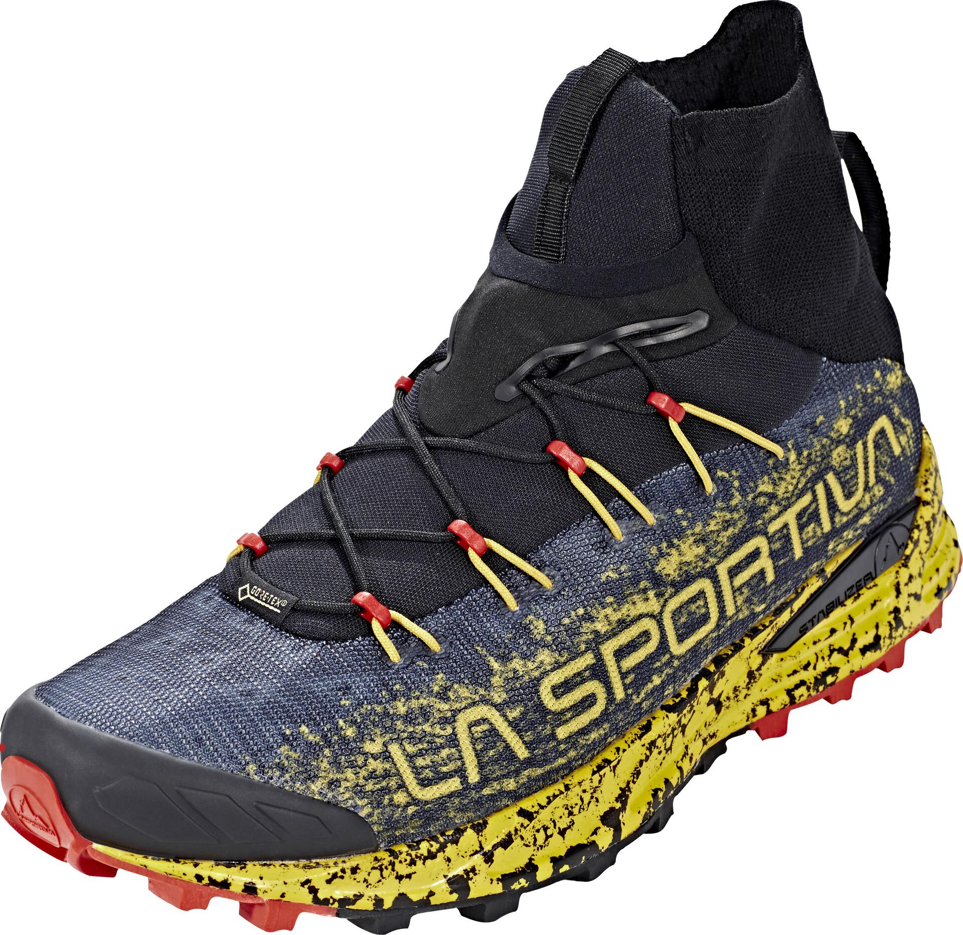La Sportiva Uragano GTX Running Shoes Herre blackyellow